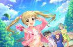 blush brown_eyes brown_hair idolmaster_cinderella_girls_starlight_stage jacket long_hair smile twintails yokoyama_chika