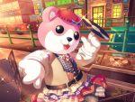 bang_dream! bear dress mascot michelle_(bang_dream!) okusawa_misaki smile