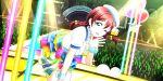 blush dress emma_verde green_eyes long_hair love_live!_school_idol_festival_all_stars redhead smil twin_braids wink