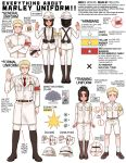1girl 2boys age_difference armband badge beard belt black_hair blonde_hair boots clam comparison facial_hair falco_grice flag gabi_braun hat height_difference helmet highres logo long_sleeves marley_military_uniform military military_hat military_jacket military_uniform multiple_boys necktie nelldya pants red_armband reiner_braun salute shingeki_no_kyojin short_hair short_sleeves shorts star symbol tan uniform violet_eyes white_armband yellow_eyes