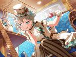 aoba_moka bang_dream! blue_eyes blush dress grey_hair short_hair smile
