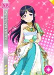 blue_hair blush character_name dress fairy long_hair love_live!_school_idol_festival love_live!_school_idol_project matsuura_kanan smile violet_eyes