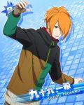 character_name green_eyes idolmaster idolmaster_side-m jacket orange_hair short_hair tsukumo_kazuki