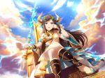 black_hair blue_eyes dress horns long_hair shoujo_kageki_revue_starlight tendou_maya