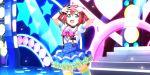 blush dress green_eyes kurosawa_ruby love_live!_school_idol_festival_all_stars pink_hair short_hair smile twintails
