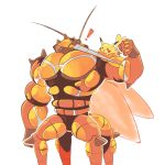 ! artsy-rc buzzwole commentary english_commentary flexing gen_1_pokemon gen_7_pokemon highres no_humans pikachu pokemon pokemon_(creature) pose simple_background standing ultra_beast white_background