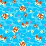 commentary creature english_commentary fish gen_1_pokemon krabby magikarp no_humans pokemon pokemon_(creature) seashell shell staryu versiris water watermark web_address