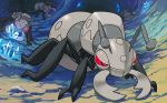 cave commentary creature crystal durant english_commentary gen_5_pokemon ishikawa_hideki multiple_sources no_humans official_art pokemon pokemon_(creature) pokemon_trading_card_game red_eyes third-party_source