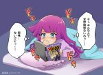 1girl blue_eyes blush kirishima_romin magazine pink_hair raijin-bh translation_request yami_yuugi yuu-gi-ou yuu-gi-ou_sevens