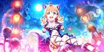 blush dress halloween love_live!_school_idol_festival_all_stars orange_hair red_eyes short_hair smile takami_chika