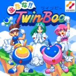 1boy 2girls :d blue_eyes brown_eyes brown_hair copyright_name crown day dress gloves green_hair gwinbee hairband headband highres konami light_(twinbee) logo multiple_girls open_mouth outdoors pastel_(twinbee) pink_hair pixel_art pixelflag princess_melora sleeveless smile twinbee twinbee_(character) white_dress white_gloves white_headband winbee