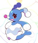 :d artsy-rc brionne fang from_side full_body gen_7_pokemon highres looking_at_viewer no_humans open_mouth pokemon pokemon_(creature) signature smile solo
