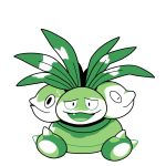 claws commentary creature english_commentary exeggutor fang full_body gen_1_pokemon green_theme looking_at_viewer monochrome no_humans pokemon pokemon_(creature) pokemon_(game) pokemon_rgby pokemon_rgby_(style) rumwik signature simple_background sitting solo white_background