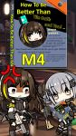 1hr10min 2girls anger_vein angry assault_rifle bangs bar bar_stool bgm-71_(girls_frontline) blush book brown_eyes brown_hair chibi commentary drooling english_text eyebrows_visible_through_hair full_body girls_frontline gloves green_hair gun hair_ornament hairclip headphones highres holding holding_weapon jacket long_hair m4_carbine m4a1_(girls_frontline) multicolored_hair multiple_girls reading rifle shelf silver_hair sitting sitting_on_object smile standing stool streaked_hair stuffed_animal stuffed_toy teddy_bear weapon