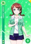 character_name emma_verde green_eyes love_live!_school_idol_festival_all_stars redhead shirt short_hair smile