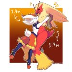 animal_ears artist_name blaziken bunny_tail cinderace commentary_request height_difference highres holding_hands looking_at_another musical_note no_humans pokemon pokemon_(creature) rabbit_ears smile sweatdrop tail zakro