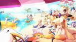 ass beach bird blonde_hair breasts character_request dolphin ejami fate/extra fate_(series) fox_girl highres large_breasts league_of_legends long_hair nude seagull short_hair swimsuit tail tamamo_(fate)_(all) touhou yakumo_ran