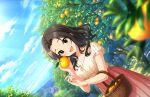 black_hair blush dress green_eyes idolmaster_cinderella_girls_starlight_stage long_hair smile souma_natsumi