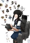 6+girls absurdres admiral_(kantai_collection) aoki_hagane_no_arpeggio atago_(kantai_collection) black_eyes black_hair blue_sailor_collar blue_skirt chibi cowboy_shot crossover fubuki_(kantai_collection) haruna_(aoki_hagane_no_arpeggio) hatsuyuki_(kantai_collection) hibiki_(kantai_collection) highres hiryuu_(kantai_collection) hitokoe inazuma_(kantai_collection) iona ise_(kantai_collection) kaga_(kantai_collection) kantai_collection kirishima_(aoki_hagane_no_arpeggio) long_hair looking_at_viewer low_ponytail lycoris_fubuki machinery multiple_girls mutsu_(kantai_collection) nagato_(kantai_collection) pleated_skirt ponytail sailor_collar school_uniform sendai_(kantai_collection) serafuku shigure_(kantai_collection) shiranui_(kantai_collection) short_ponytail sidelocks simple_background skirt smokestack solo_focus stuffed_animal stuffed_toy takao_(aoki_hagane_no_arpeggio) teddy_bear torpedo_launcher white_background yotarou_(aoki_hagane_no_arpeggio)