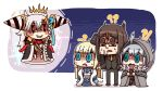 !? ...? 1boy 3girls ?? add_(lord_el-melloi_ii) ahoge birdcage black_headwear black_legwear blonde_hair blue_coat blue_eyes braid brown_eyes brown_hair cage cape cheekbones chinese_clothes cigarette cloak coat earrings fate/grand_order fate_(series) floating floating_object fur-trimmed_cloak fur_collar fur_trim glasses gray_(lord_el-melloi_ii) grey_cape grey_hair hair_ribbon highres holding_cage hood hood_up hooded hooded_cape hooded_cloak horn jewelry l.n lighter long_braid long_hair lord_el-melloi_ii multiple_girls olga_marie_animusphere reines_el-melloi_archisorte ribbon riyo_(lyomsnpmp)_(style) shaded_face side_braid smoke spoilers surprised u-olga_marie v_over_eye waver_velvet white_hair yellow_eyes