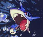 blue_eyes chasing commentary creature english_commentary fish fish_focus full_body gen_3_pokemon gen_7_pokemon no_humans pinkgermy pokemon pokemon_(creature) sharpedo swimming underwater violet_eyes water wishiwashi wishiwashi_(solo)