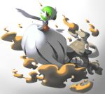 commentary creature dusclops english_commentary full_body gardevoir gen_3_pokemon looking_at_viewer no_humans pinkgermy pokemon pokemon_(creature) simple_background white_background