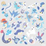 artricahearts azumarill azurill barboach black_eyes blank_eyes brown_eyes closed_eyes closed_mouth commentary creature dewgong eelektrik english_commentary froakie full_body gen_1_pokemon gen_2_pokemon gen_3_pokemon gen_4_pokemon gen_5_pokemon gen_6_pokemon gen_7_pokemon grey_background horn horsea inkay keldeo keldeo_(ordinary) lapras latios looking_at_viewer mantyke marill mudkip mythical_pokemon no_humans omanyte oshawott phione piplup pokemon pokemon_(creature) poliwag popplio red_eyes shell signature simple_background sleeping smile spheal spikes squirtle totodile vaporeon wailmer wartortle water_stone wingull