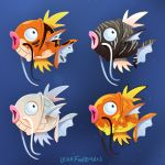 commentary creature english_commentary fish fish_focus full_body gen_1_pokemon leah_fuhrman magikarp no_humans pokemon pokemon_(creature) signature