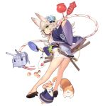 1girl alternate_costume animal_ears apple ass azur_lane bangs breasts candy_apple cat eyebrows_visible_through_hair fan festival fireworks fish floral_print flower food fruit full_body goldfish goldfish_scooping green_eyes grey_hair hair_flower hair_ornament ikayaki japanese_clothes kimono kitakaze_(azur_lane) looking_at_viewer manjuu_(azur_lane) night obi official_art panties paper_fan print_kimono rabbit_ears sandals sash short_hair short_kimono short_yukata small_breasts squid tachi-e takoyaki transparent_background tsliuyixin underwear weapon white_panties wide_sleeves yukata
