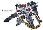 chibi crossover gun gundam gundam_0080 gundam_wing joints kampfer_(mobile_suit) looking_to_the_side mecha mechanical_wings one-eyed robot robot_joints takamaru_(taka1220) tallgeese weapon whip_sword wings zeon