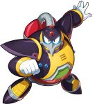 1boy armor beak bird boss forehead_jewel green_eyes highres icy_penguigo official_art penguin pose pumps rockman rockman_x rockman_x_dive shoulder_armor symbol