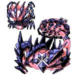 commentary creature english_commentary eternatus full_body gen_8_pokemon legendary_pokemon no_humans pat_attackerman pixel_art pokemon pokemon_(creature) simple_background sprite white_background