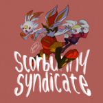 bunny_focus cinderace commentary_request creature english_text full_body gen_8_pokemon highres jyunhh no_humans one_eye_closed pokemon pokemon_(creature) rabbit raboot scorbunny signature simple_background