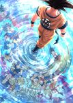 6+boys age_progression arms_at_sides aura backlighting black_eyes black_hair blonde_hair blue_footwear blurry bokeh boots child clenched_hands clothes_writing commentary_request depth_of_field different_reflection dougi dragon_ball dragon_ball_(classic) dragon_ball_(object) dragon_ball_gt dragon_ball_super dragon_ball_z dragon_ball_z_fukkatsu_no_f dragon_ball_z_kami_to_kami expressionless facing_away flying_nimbus from_above highres indian_style kaiouken light_particles long_hair looking_at_viewer looking_back male_focus mattari_illust monkey_tail multiple_boys multiple_persona nape pectorals profile red_eyes redhead reflection ripples screaming shirt shirtless sitting son_gokuu spiky_hair standing standing_on_liquid super_saiyan super_saiyan_2 super_saiyan_3 super_saiyan_4 super_saiyan_blue super_saiyan_god tail torn_clothes torn_shirt twitter_username ultra_instinct upside-down walking water wristband yellow_eyes