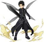 highest highres kirito kirito_(sao-alo) sword_art_online sword_art_online:_memory_defrag transparent_background