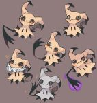 alternate_color charamells commentary creature english_commentary full_body gen_7_pokemon grey_background looking_at_viewer mimikyu no_humans pokemon pokemon_(creature) shiny_pokemon simple_background sparkle