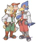 falco_lombardi fox_mccloud furry lowres nemurism nintendo star_fox starfox super_smash_bros.