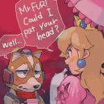english fox_mccloud furry lowres nemurism nintendo oekaki princess_peach star_fox starfox super_mario_bros. super_smash_bros.