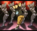 5boys ass black_eyes closed_eyes commentary_request creature dancing facing_viewer gen_1_pokemon kurii_chasuke letterboxed machoke male_focus multiple_boys muscle pokemon pokemon_(creature) pokemon_(game) pokemon_xy shadow symmetrical_pose tierno_(pokemon)