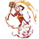 fire flame highres lisbeth pink_hair sword_art_online sword_art_online:_memory_defrag transparent_background