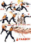 1boy belt blue_hair gameplay_mechanics gloves highres jheflow45 k9999 open_mouth shirt short_hair sleeveless sleeveless_shirt solo studded_belt the_king_of_fighters