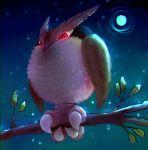 beta_pokemon bird bird_focus booboo_(noctowl) claws commentary creature full_body full_moon highres hushcoil moon night night_sky no_humans pokemon pokemon_(creature) pokemon_(game) pokemon_gsc pokemon_gsc_beta prototype red_eyes sky solo star_(sky) starry_sky