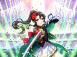 akikaze_rui black_hair long_hair ponytail red_eyes shoujo_kageki_revue_starlight sword yukata