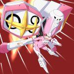 1girl bodysuit breasts hat jakuzure_nonon kill_la_kill looking_at_viewer pink_eyes pink_hair shako_cap smile solo symphony_regalia yoshida_keiji