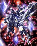 choukou_gasshin_xardion floating gem highres inside_creature looking_up mecha no_humans open_hands shield solo super_robot xardion yakisoba_(kaz2113)