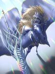 1girl absurdres armor artist_request artoria_pendragon_(all) artoria_pendragon_(lancer)_(fate) fate/grand_order fate_(series) full_armor helmet highres lance polearm rhongomyniad_(fate) weapon