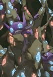 cave commentary creature english_commentary frown gem gen_3_pokemon looking_at_viewer no_humans pinkgermy pokemon pokemon_(creature) sableye sitting