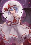 absurdres bat_wings hat hat_ribbon highres mob_cap remilia_scarlet ribbon touhou wings