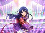 1girl katana long_hair purple_hair shoujo_kageki_revue_starlight solo tomoe_tamao violet_eyes yukata
