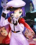1boy absurdres blue_hair denney_(sukeru_ramune) green_eyes highres kojirou_(pokemon) medium_hair pokemon pokemon_(anime) team_rocket